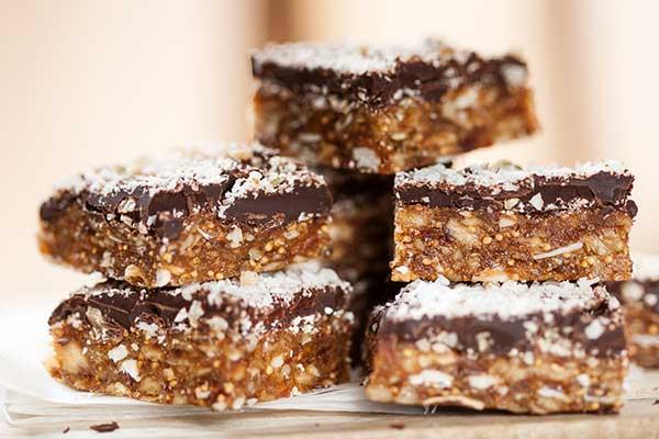 Schoko-Energieriegel Die 10 gesunden (Low Carb) Snacks!