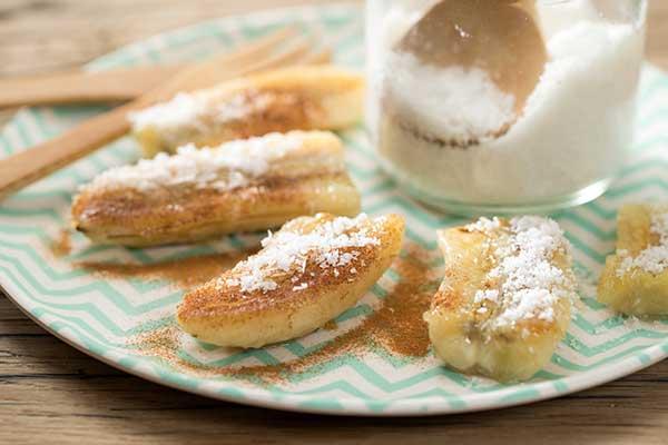 gebratene-Bananenstücke Die 10 gesunden (Low Carb) Snacks!